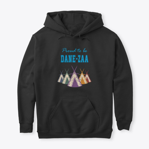 Dane Zaa  Teepee Happy Caming  Black T-Shirt Front
