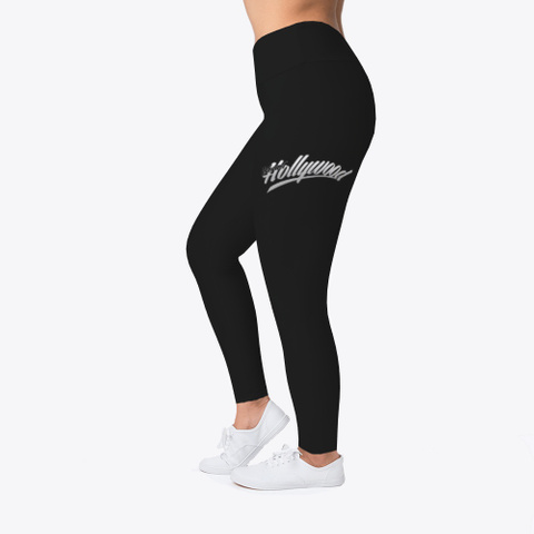 Internet Hollywood Woman's Vs1 Leggings Black T-Shirt Left