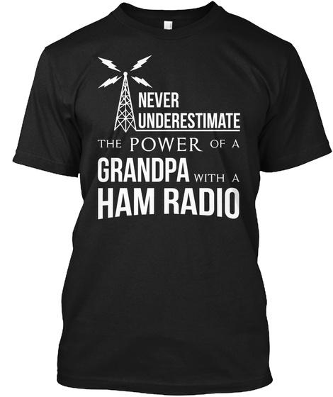 Ham Radio Shirt Sweatshirt Black T-Shirt Front