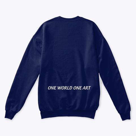 One World One Art   Lucca D Navy  T-Shirt Back