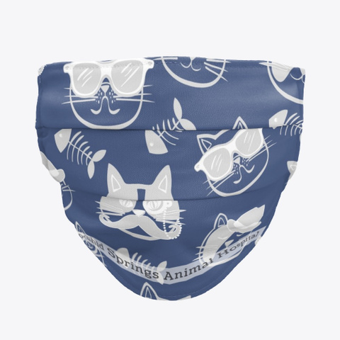 Cool Cat Face Covering Standard T-Shirt Front