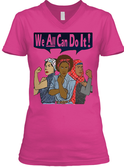 We Can Do It ! Berry T-Shirt Front