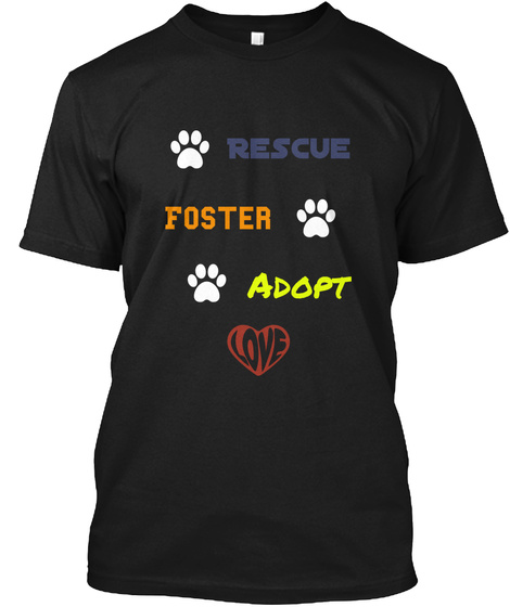 Rescue Foster Adapt Black T-Shirt Front