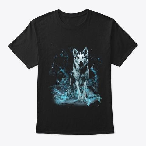 Siberian Husky M Gic Black T-Shirt Front