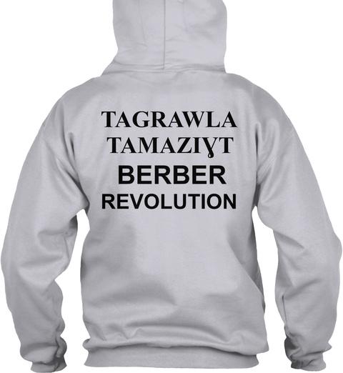 Amazigh Hoodie Shirt   Akerbas Ukunbu Ash Sweater Back
