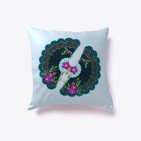Throw Pillow Design  Fambroi Blue Pale Blue T-Shirt Front