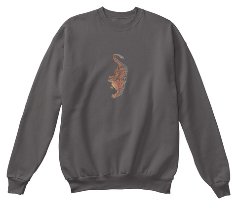 Tiger  Charcoal T-Shirt Front
