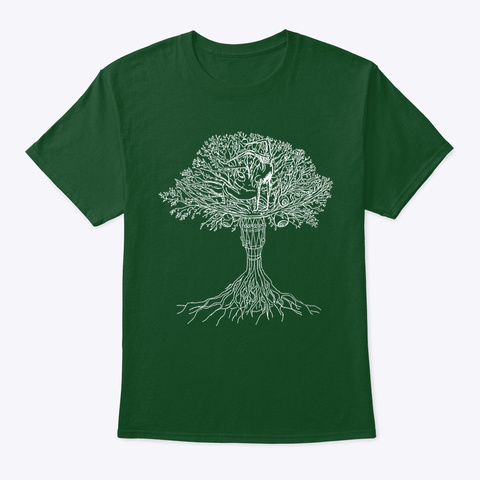 Capoeira Tree Of Life Deep Forest T-Shirt Front