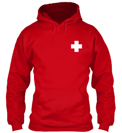Limited Edition   Lifeguard Hoodies Red T-Shirt Front