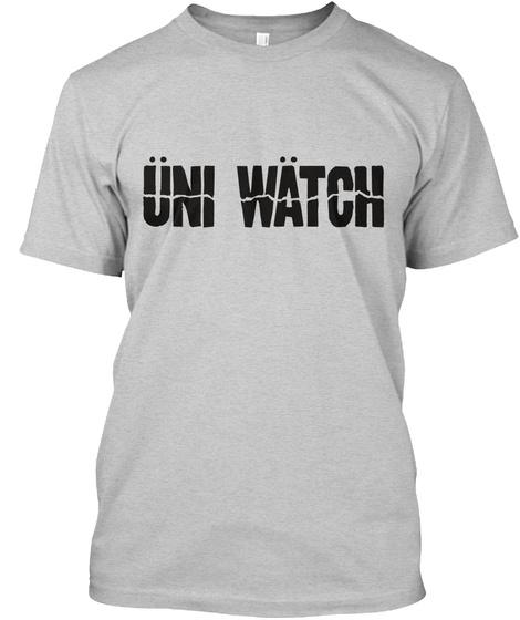 Uni Rock: Umlaut (Grey) Light Steel T-Shirt Front