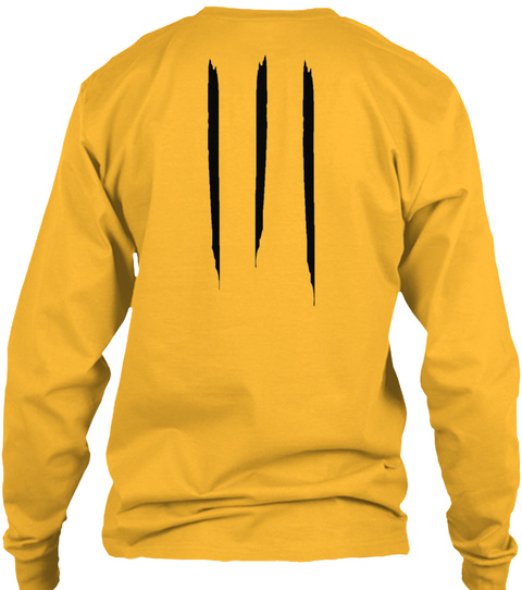 Promotion Long Sleeve Tee Gold T-Shirt Back