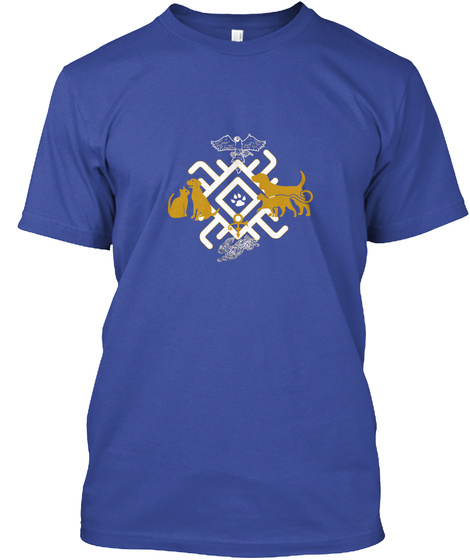 Save A Life And Adopt Deep Royal T-Shirt Front