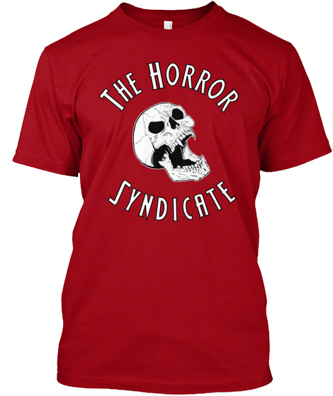 The Horror Syndicate Deep Red T-Shirt Front