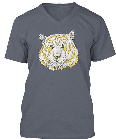 Gold Blood Tiger Deep Heather T-Shirt Front
