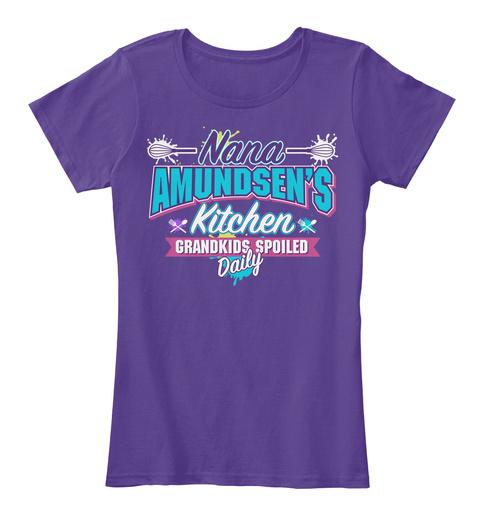 Nana Amundsen's Kitchen Purple T-Shirt Front