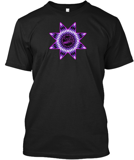 Rg Star Black T-Shirt Front