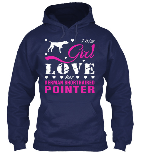 German Shorthaired Pointer Gift Shirt Navy T-Shirt Front