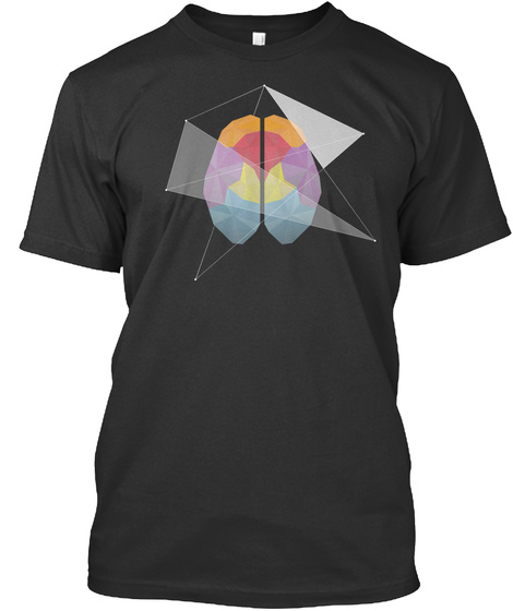 "T Shirt ""Cerveau"" Black T-Shirt Front"