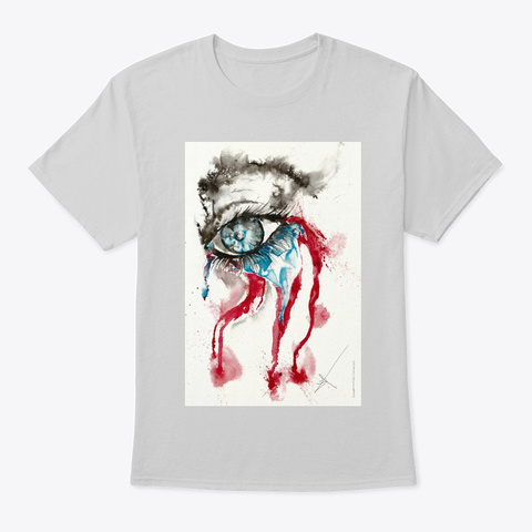 Lloramos   Art By Ja Co Tartaruga Light Steel T-Shirt Front