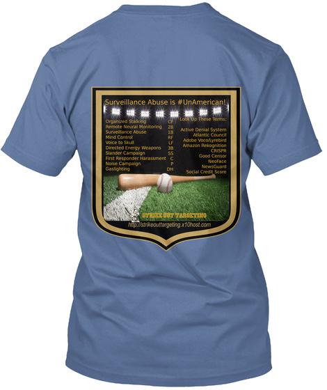 Strike Out Targeting 2019 Large Logo Tee Denim Blue T-Shirt Back