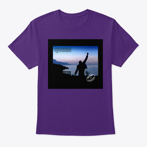 Que Made In Heaven Purple T-Shirt Front