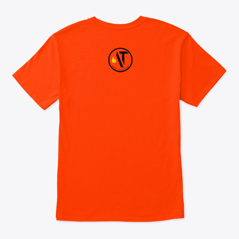 Claudine's Heart Orange T-Shirt Back