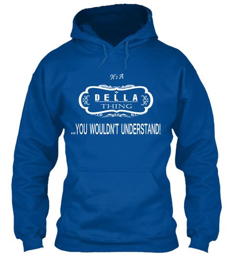Della Name Tshirt Royal T-Shirt Front
