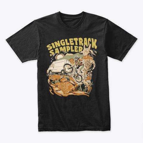 The Singletrack Sampler Tee Black T-Shirt Front