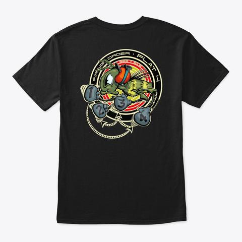 """Flat 4  """"It's All About The Timing"""" Black T-Shirt Back"""