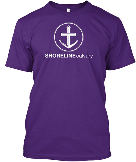 Shoreline Calvary Purple T-Shirt Front