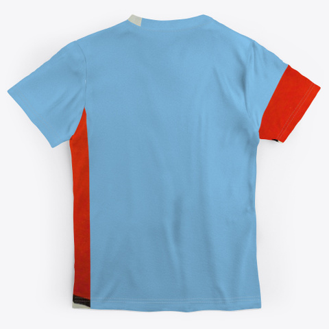 Nyc   Icons Light Blue T-Shirt Back