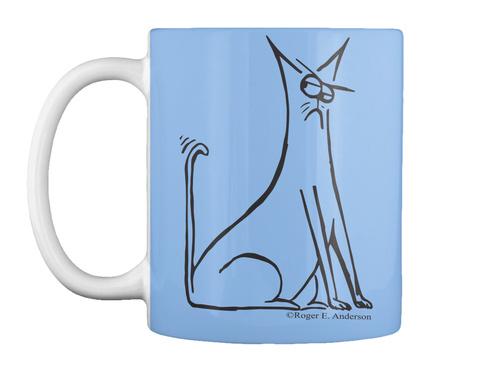 Cat Mug Powder Blue T-Shirt Front