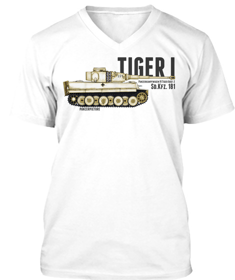 Tiger I Winter Edition White T-Shirt Front