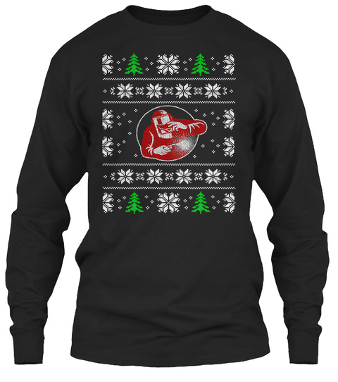 Ugly Christmas Welders Shirt Black T-Shirt Front