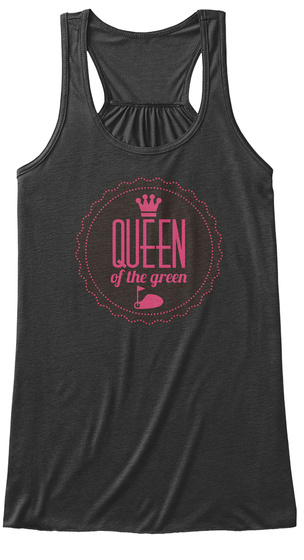 Golf Queen Dark Grey Heather T-Shirt Front