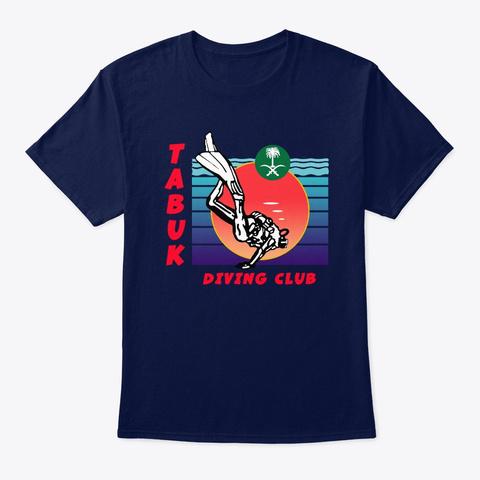 Retro Tabuk Dive Club Gear   1985 Style! Navy T-Shirt Front