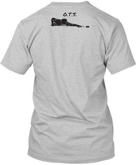 O.T.S. Light Heather Grey  T-Shirt Back