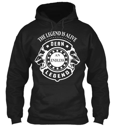 Dean Legend, Dean T Shirt!!! Black T-Shirt Front