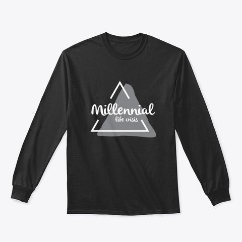 #Millennial Life Crisis Logo Black T-Shirt Front