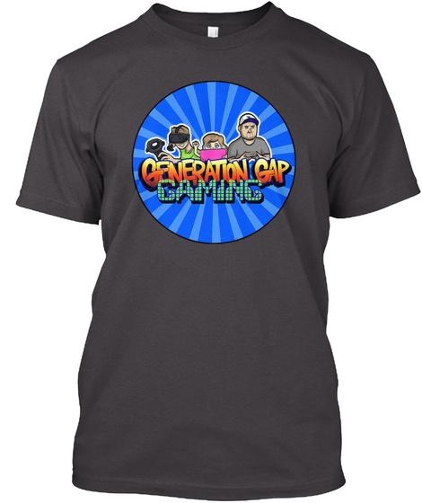 Generation Gap Gaming Heathered Charcoal  T-Shirt Front