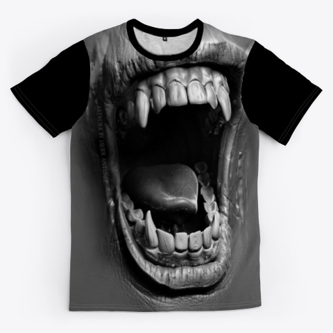 Awesome Vampire Shirt For Halloween Day Black T-Shirt Front