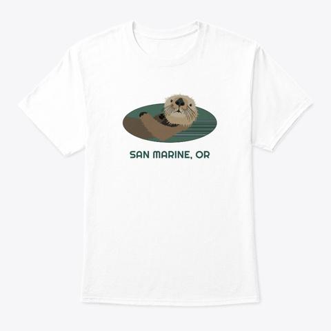 San Marine Or Otter Pnw Tribal White T-Shirt Front