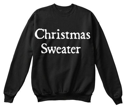 Christmas Sweater Black T-Shirt Front