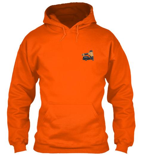 Sarcastic Roofer Shirt Safety Orange T-Shirt Front