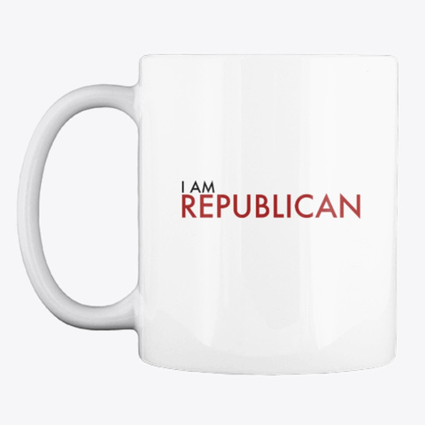 I Am Republican Red White T-Shirt Front