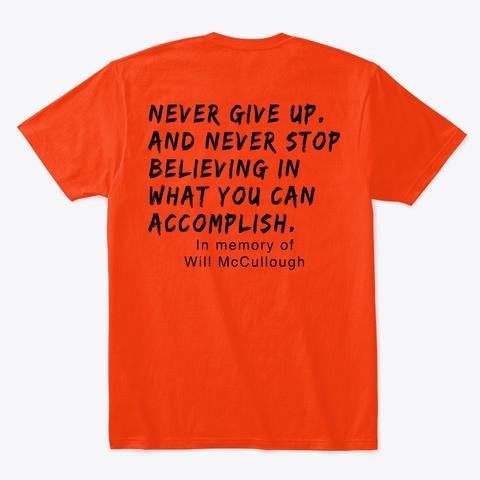 Aps Will Merch Deep Orange  T-Shirt Back
