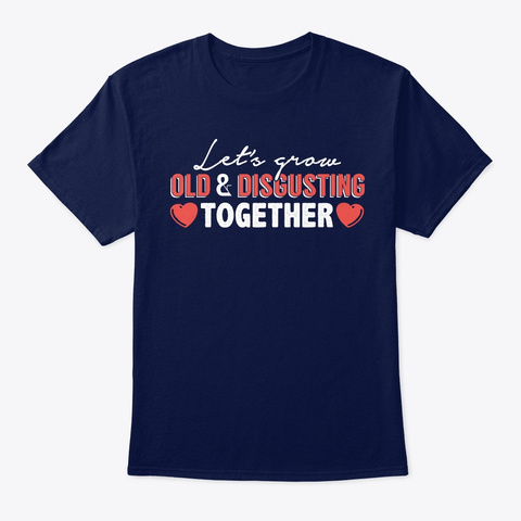 Best Gift For Husband On 5th Anniversary Navy T-Shirt Front