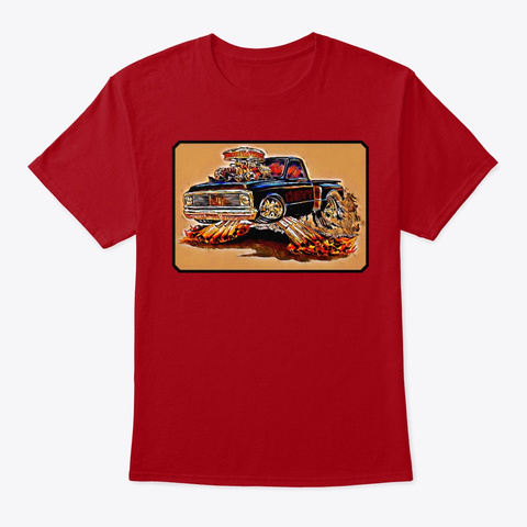 American Classic Muscle Truck  Tee Shirt Deep Red T-Shirt Front