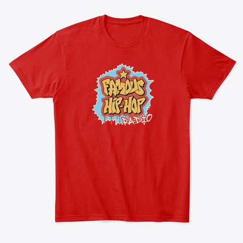 Famous Hip Hop Wild Style Classic Red T-Shirt Front