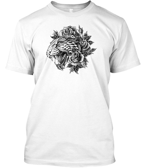 Beautyful Tiger White T-Shirt Front